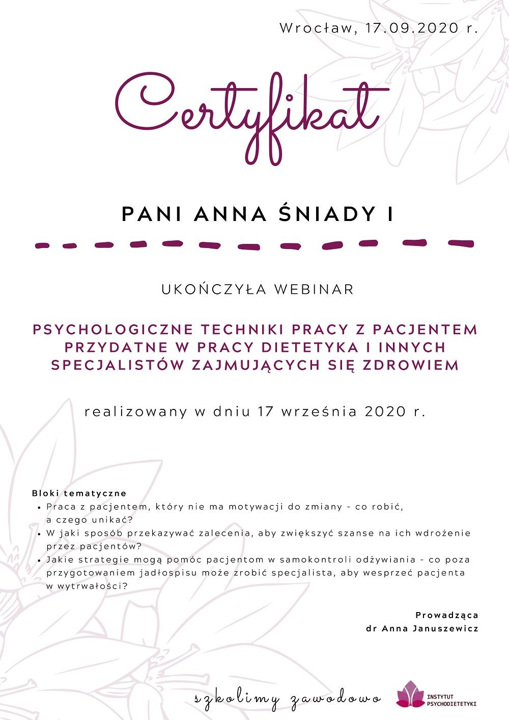 Certyfikat-Anna-Śniady-I